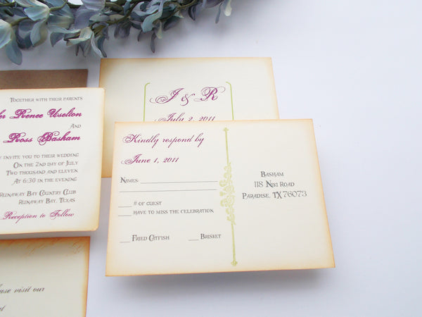 No. 062 - The Jennifer Collection, Tea length Wedding Invitations