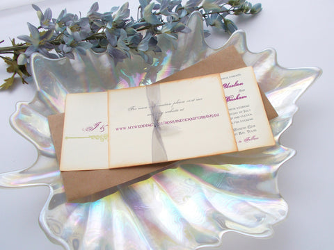 (No. 062) - The Jennifer Collection, Tea length Wedding Invitations
