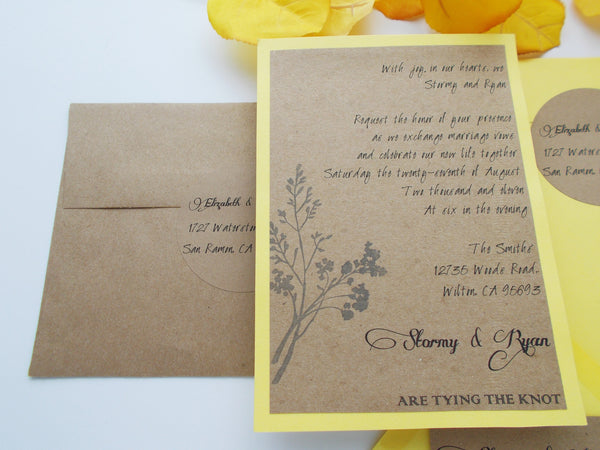 No. 087 - The Elizabeth Wedding Invitation with Save the Dates
