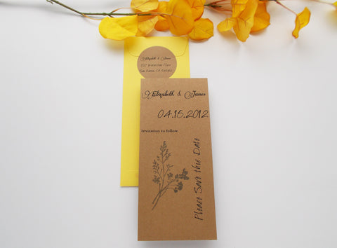 No. 088 - The Elizabeth Save the Date in Yellow