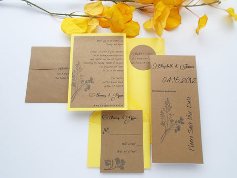 (No. 087) - The Elizabeth Wedding Invitation with Save the Dates