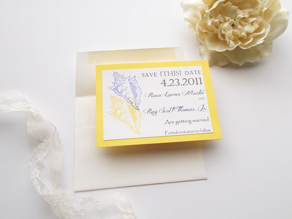 No. 092 - Navy Beach Nautical Save the Date