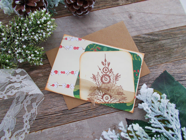 No. 119 -  Christmas Tree Greeting Cards - Set of 3