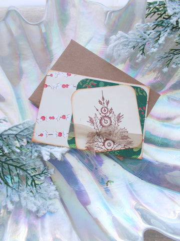 (No. 119) -  Christmas Tree Greeting Cards - Set of 3