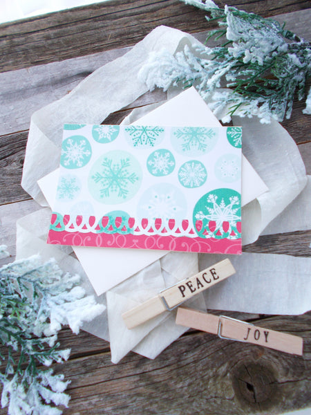 No. 121 - Snowflake Greeting Cards, Set of 5