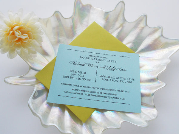 No. 130.1 - House Warming Party Invitations in Blue
