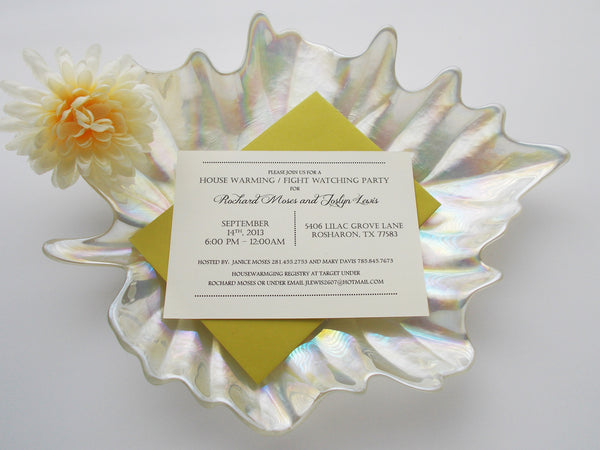 No. 130 - House Warming Party Invitations in Cream