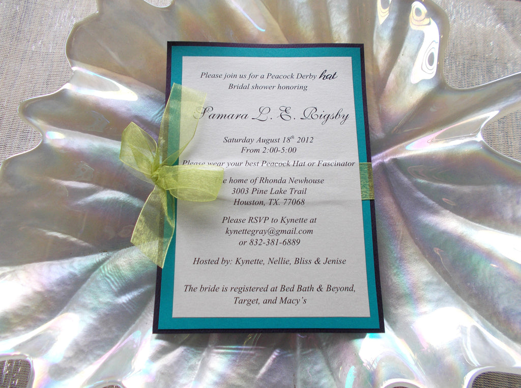 No. 133.2 - Peacock Themed Wedding Program