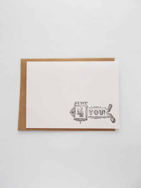 (No. 138) - Just 4 You Greeting Cards