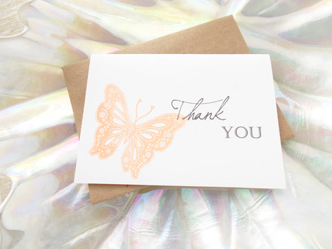 No. 139 - Butterfly Kisses Thank You Card