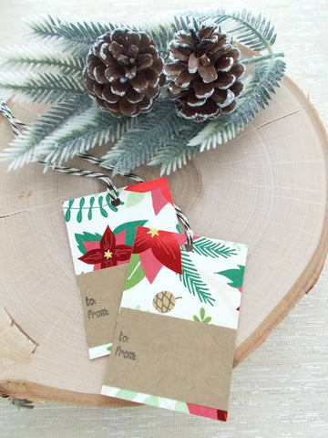 No. 152 - Poinsettia Gift Tags - Set of 10