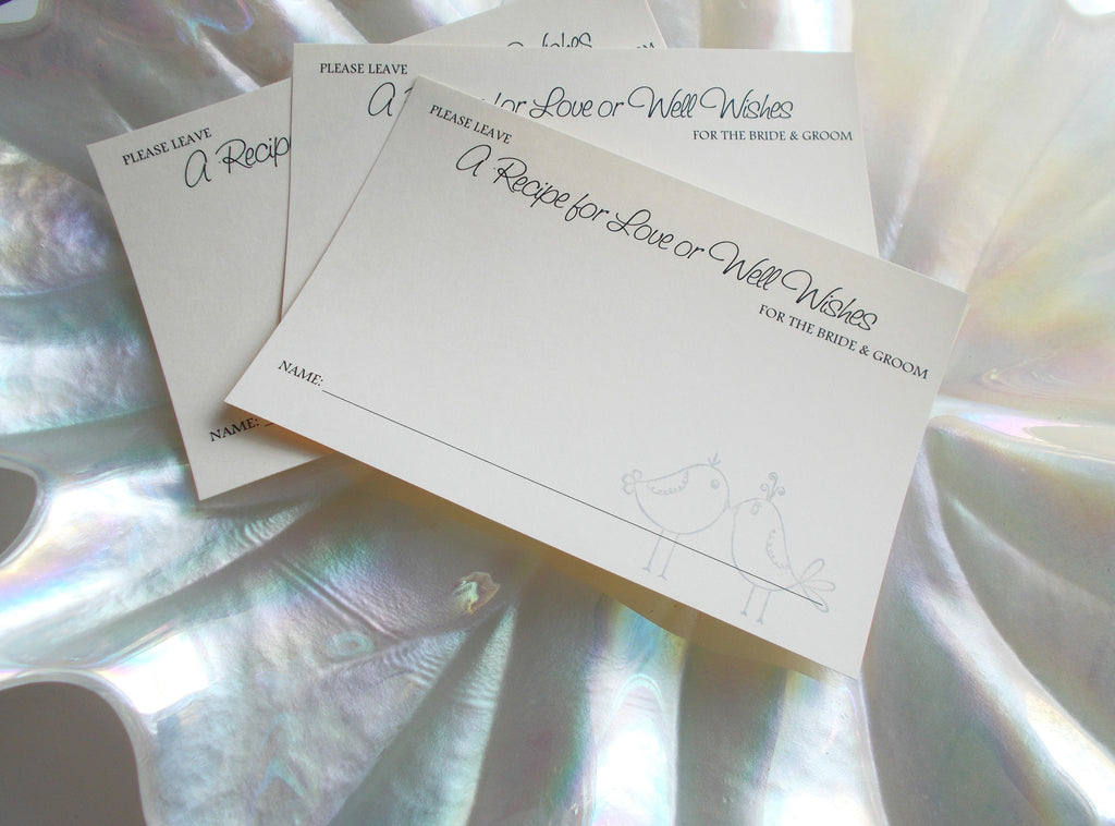 Two Doves Wedding Wish Box Insert Cards Guest Book Alternative