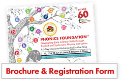 Brochure and registration form. Phonics Foundation
