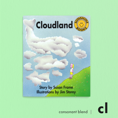 Cloudland. Consonant blend (cl). Sunshine Letter Blends.