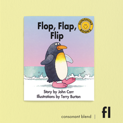Flop, Flap Flip. Consonant blend (fl). Sunshine Letter Blends.
