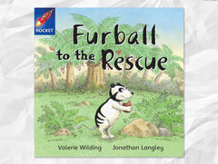 Cover page of Furball to the Rescue, Rigby Rocket