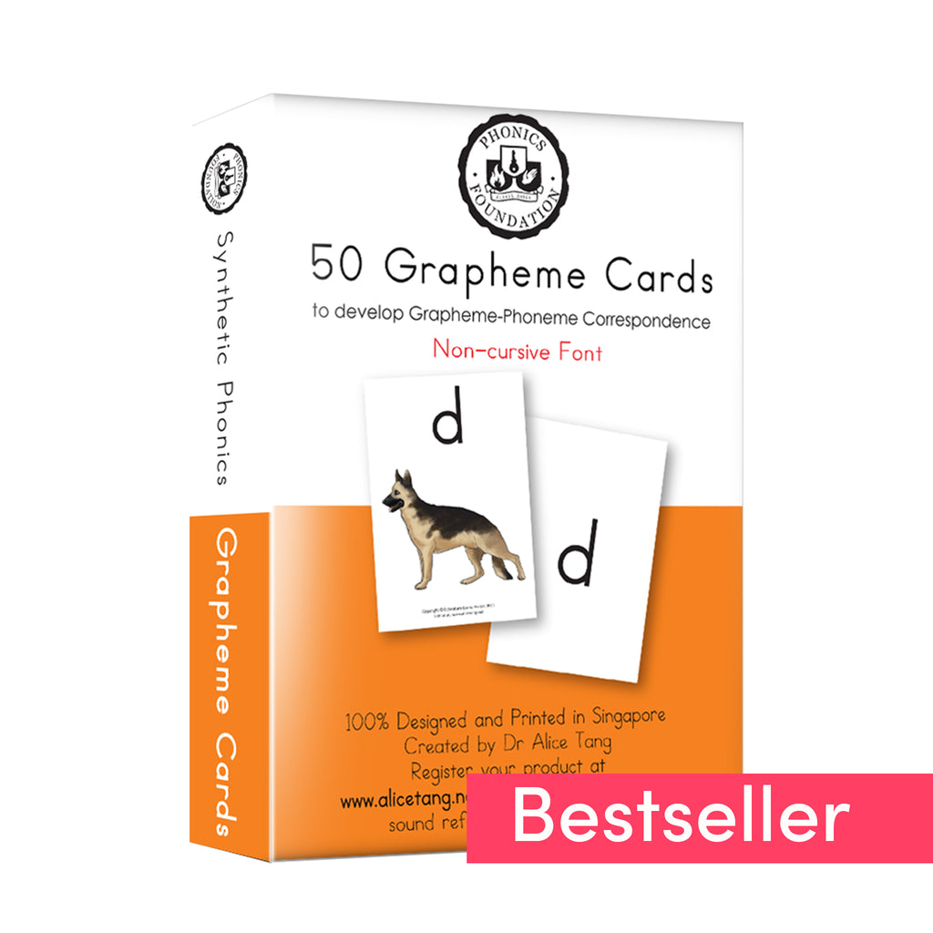 Singapore's Bestselling Grapheme Cards by Dr Alice Tang