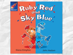 Cover of Ruby Red and Sky Blue, Rigby Rocket