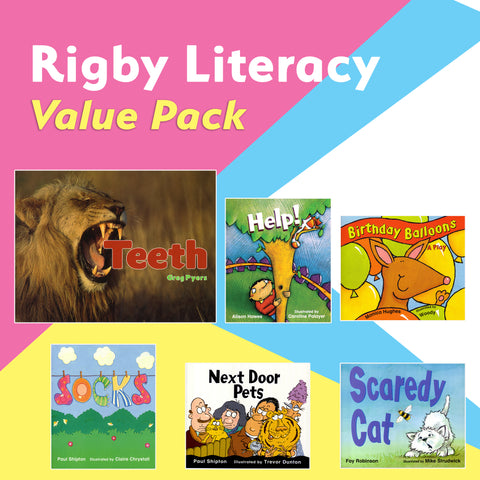 Rigby Literacy Value Pack (Emergent to Fluent, 55 titles)