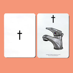 T Grapheme Card (front and back)