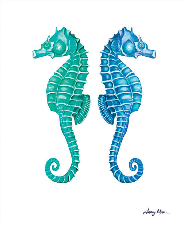 Limited Edition Capri Seahorse Reflect Print II