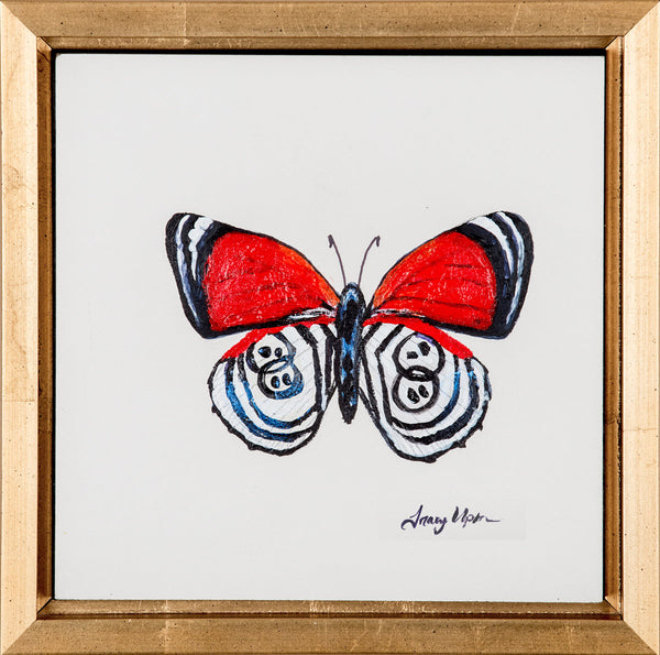 "Eighty-eight Butterfly      7 ½"" x 7 ½"""