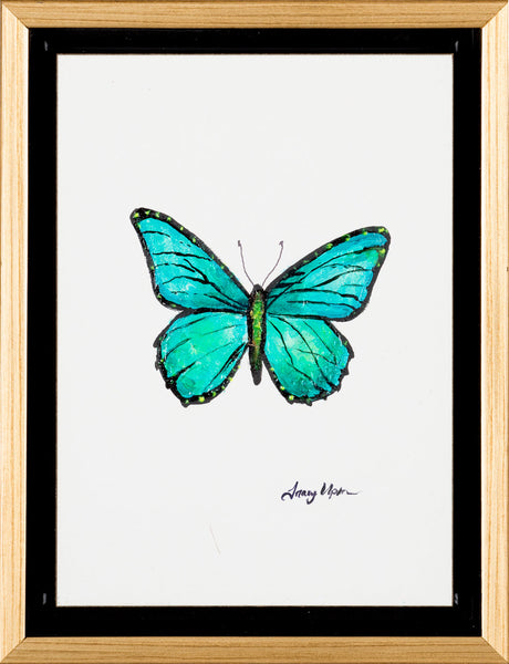 "Emerald Green Monarch              6 ½"" x 8 ¾"" x 2"" deep"