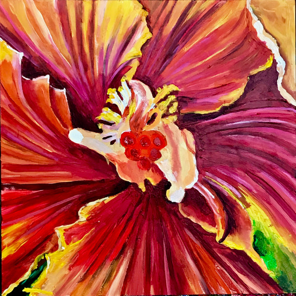 Yellow Orange Hibiscus, 12