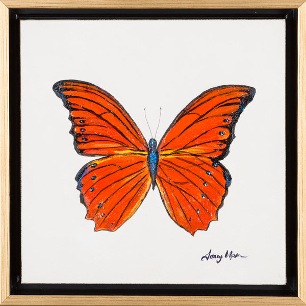 "Orange Albatross             10"" x 10"" x 2"" deep"