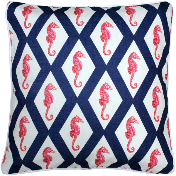 Sea Island Navy and Red Argyle Seahorse