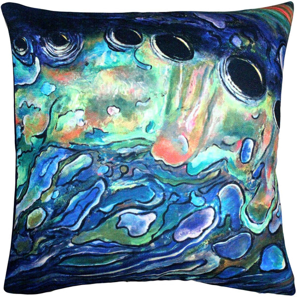 Shoal Cape Abalone Close Up Decorative Pillow