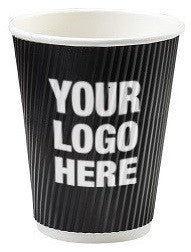 Custom Printed Groove Paper Hot Cups