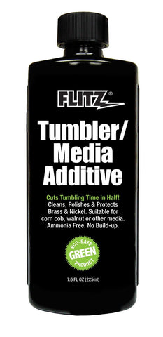 Flitz media polish tumbler additive in 7.6 oz bottle