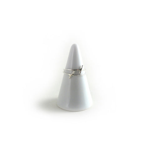 Tiny Drift Ring - Sterling Silver