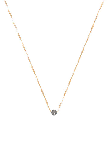 Pave Diamond Ball Necklace