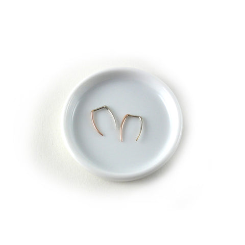 Two Tone Infinite Tusk Earrings - Rose Gold/White Gold