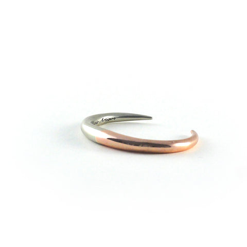 Two Tone Infinite Cuff- Rose/White