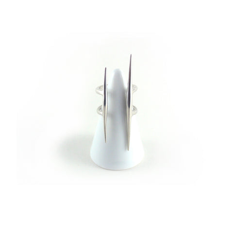 Parallel Quill Ring - Sterling Silver