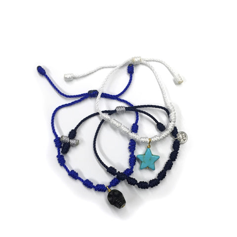 Ocean Bracelet Set - Cotton/Nylon