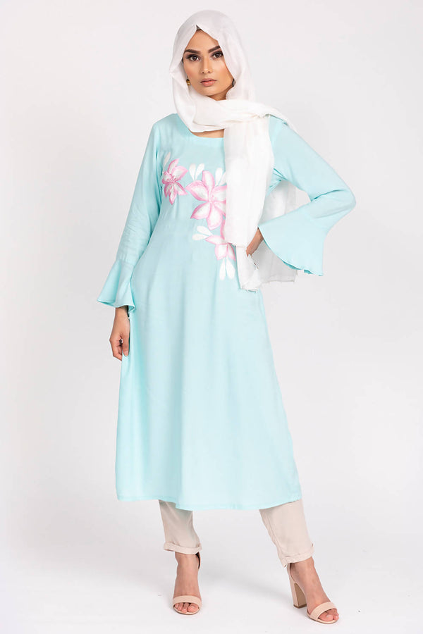Embroidered Lilly Shirt - hum hum London