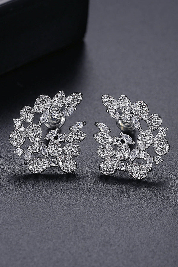 Silver Big Stud Earrings - Saverah Village