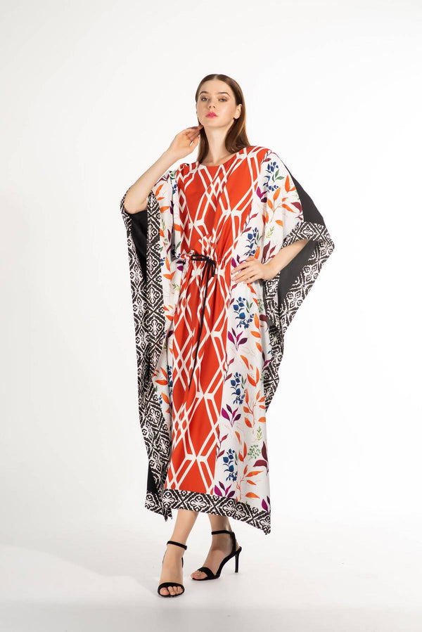 SS21 Unique Printed Kaftan (Look 7) - Chenille Boutique