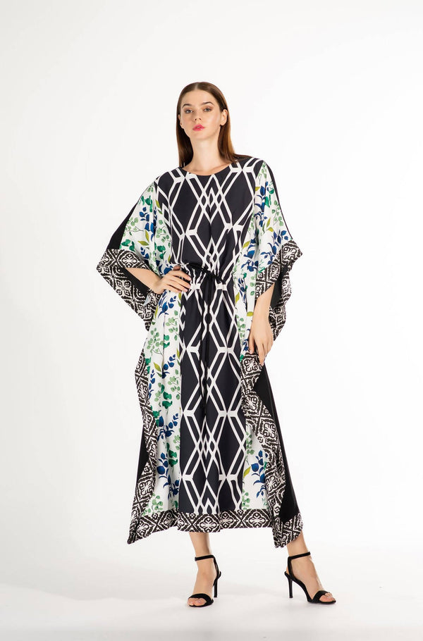 SS21 Unique Printed Kaftan (Look 8) - Chenille Boutique