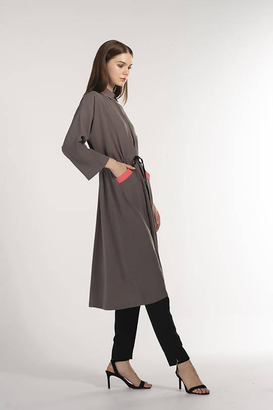 Shirt Dress Khaki - Chenille Boutique