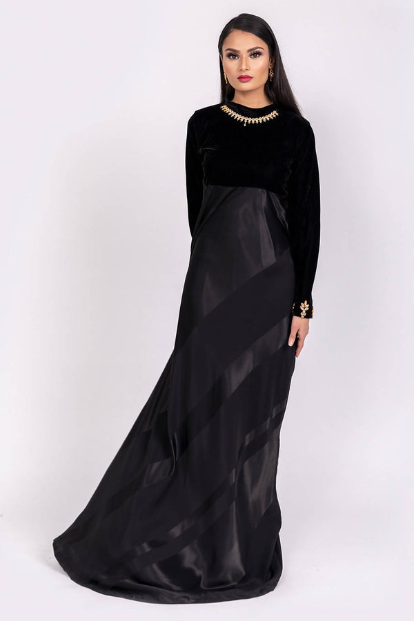 Long Black Dress - hum hum London