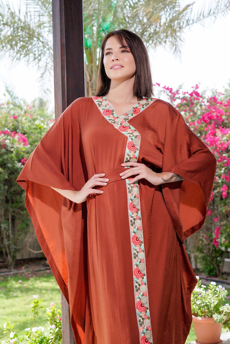 2021 Rust Kaftan Dress - Chenille Boutique