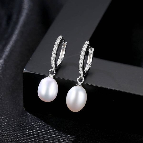 Sterling Silver, Freshwater Pearl Earrings - Saverah Village