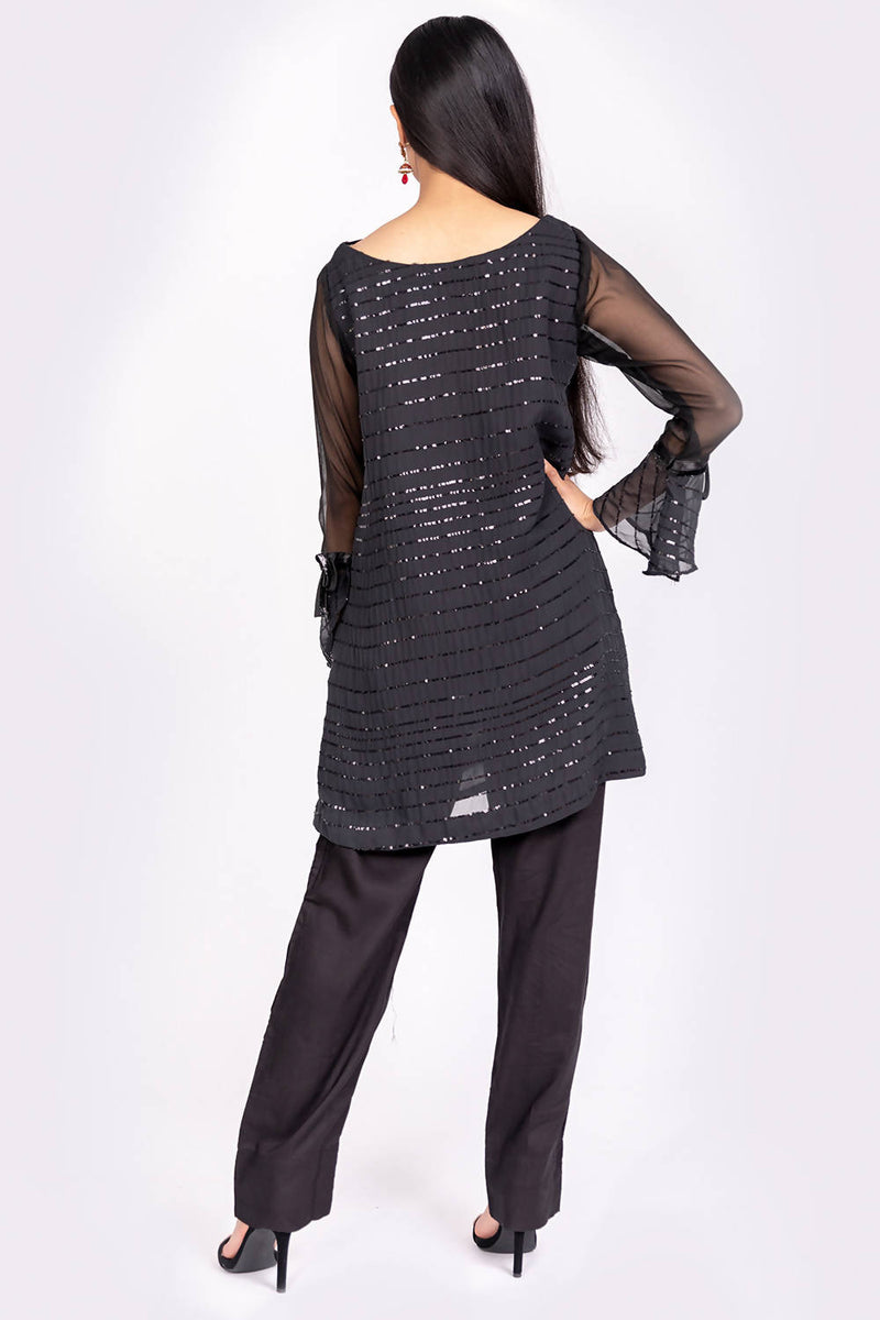 Black Tunic Dress - hum hum London