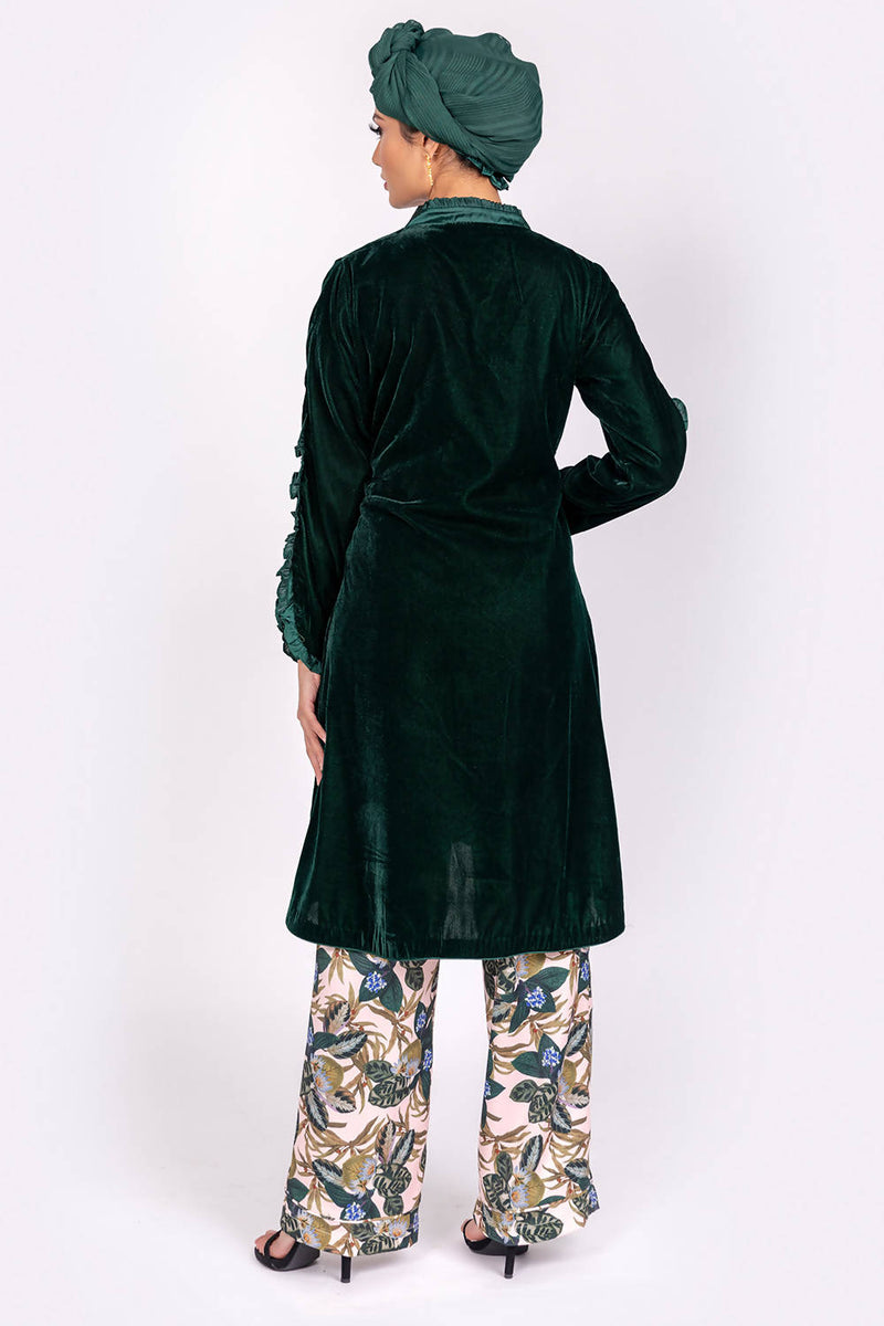 Velvet Hem Dress - hum hum London