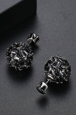 Double sided black cuboid stud Earrings